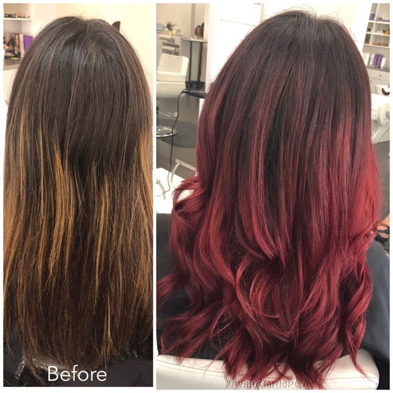Before and After Hair Styles 010