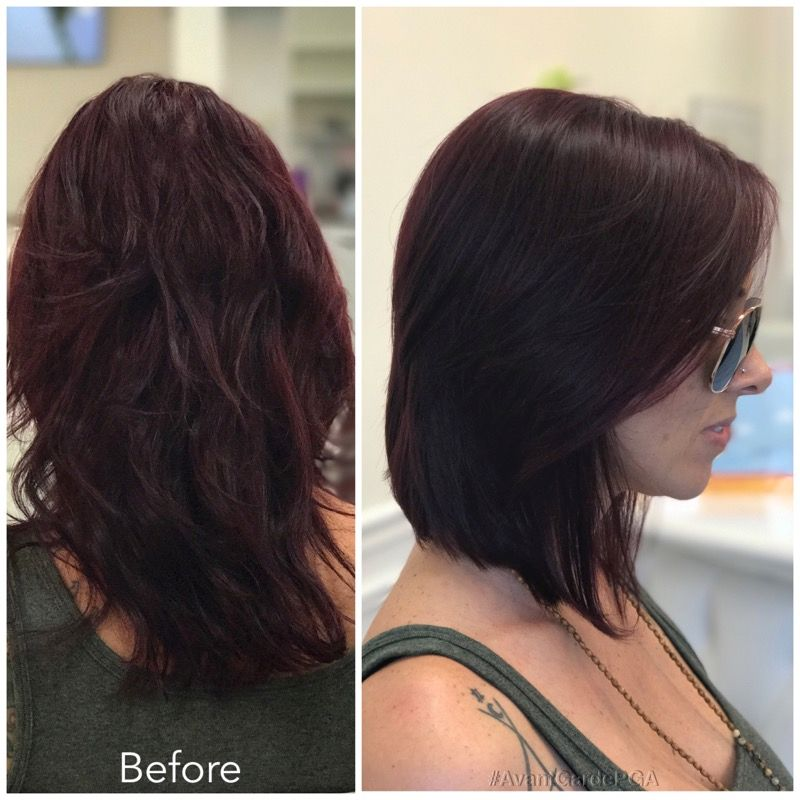 Before and After Hair Styles 016