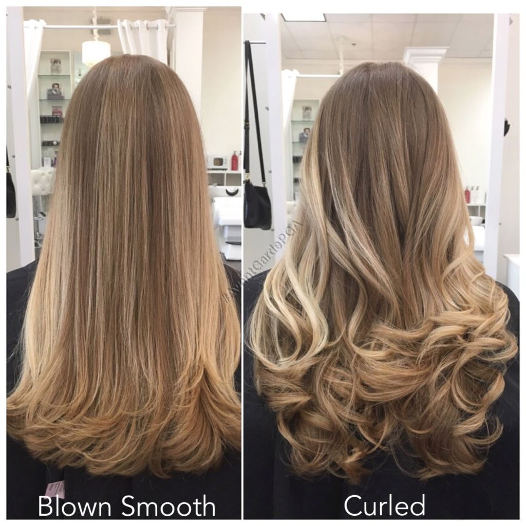 Hair Salon Hairstyles: Blown Smooth Or Curled Hair Styles